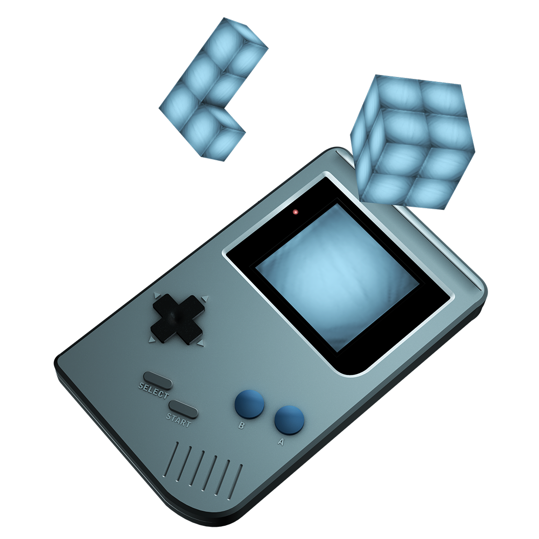 3D Modell eines Game Boys