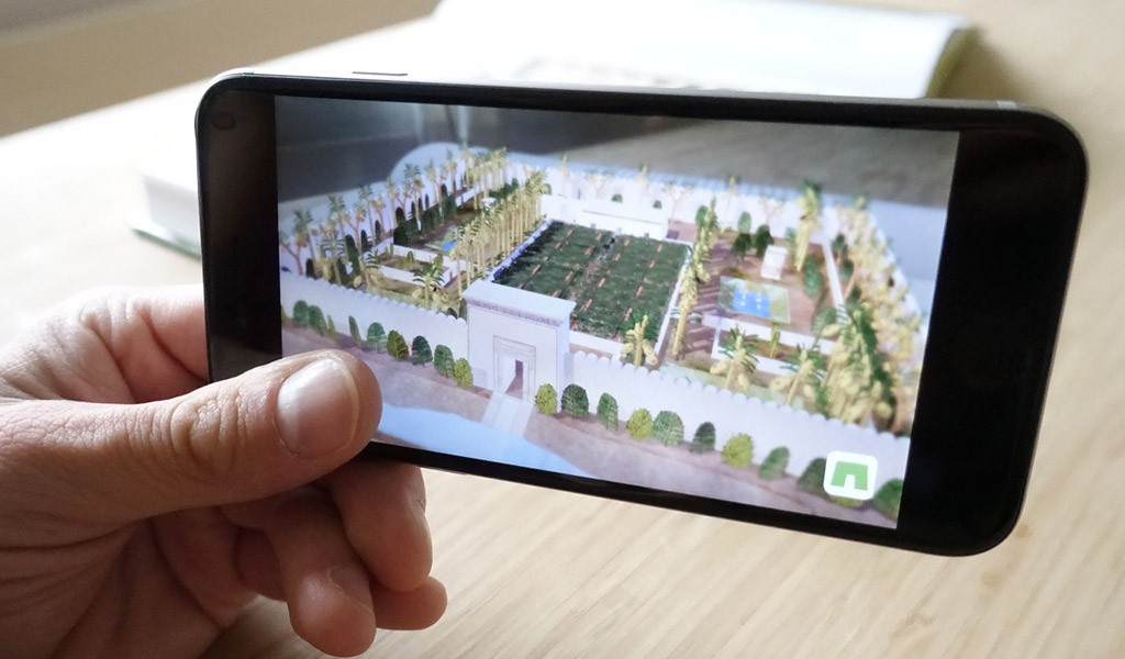 Garten des Sennefer Augmented Reality